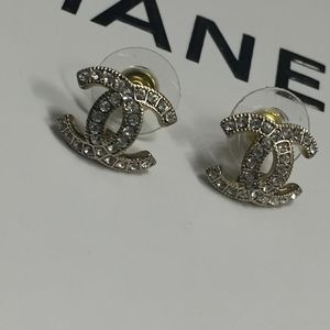 Chanel Swarovski Crystal Earrings